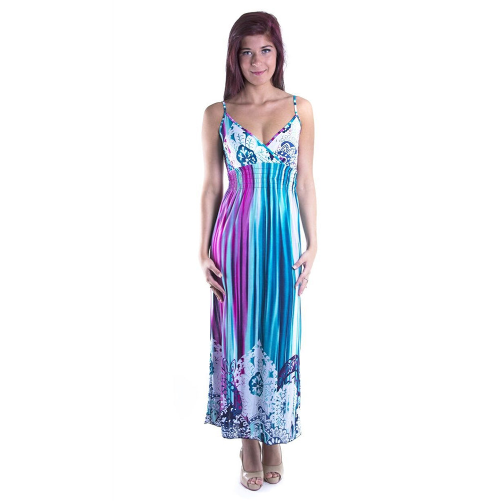 Wrap Paisley Maxi Dress