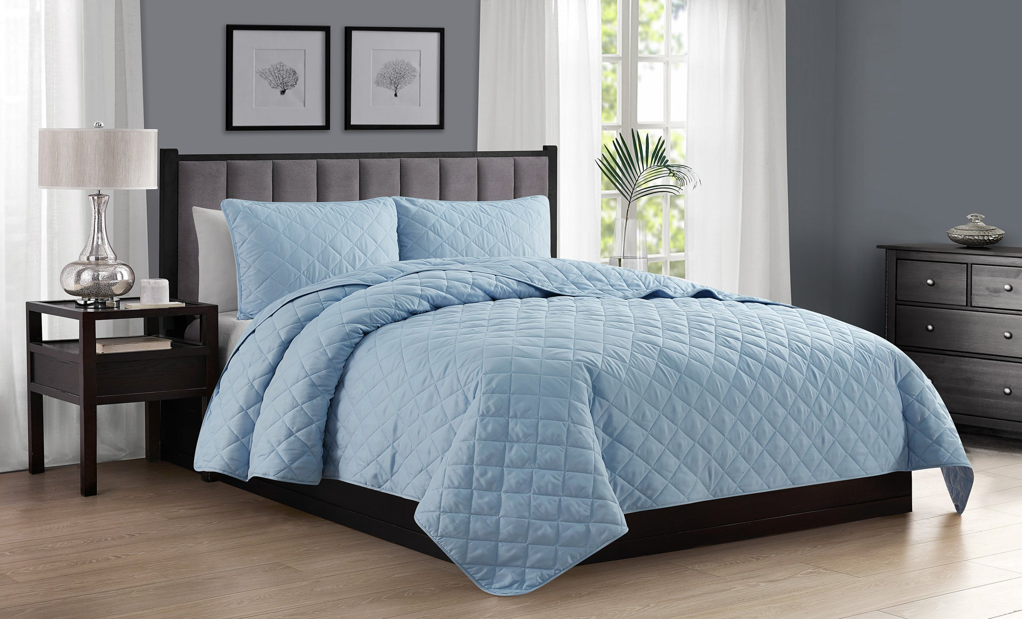 Ultra-Soft Diamond Stitch Quilt Set (2- or 3-Piece)