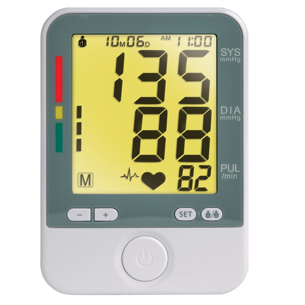 Large Display Arm Cuff Blood Pressure Monitor