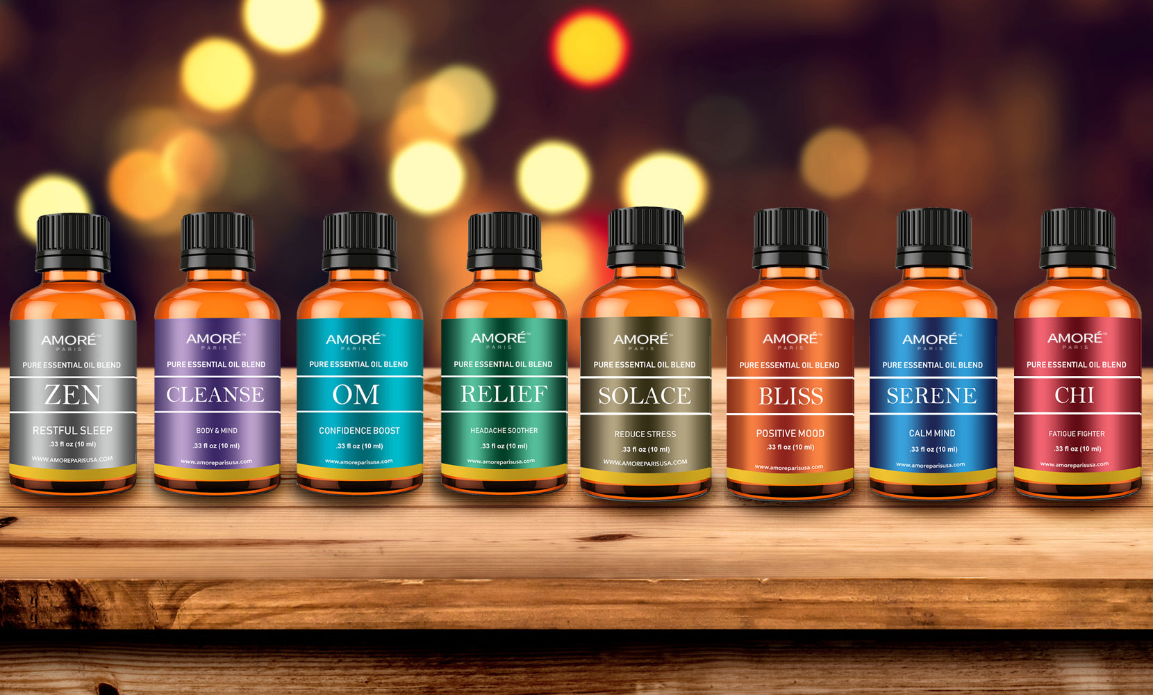 8-Pack: Aromatherapy Therapeutic Grade Essential Oil Gift Set