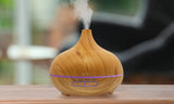 Wood Grain Ultrasonic Cool Mist Diffuser with 7 Color LED Lights
