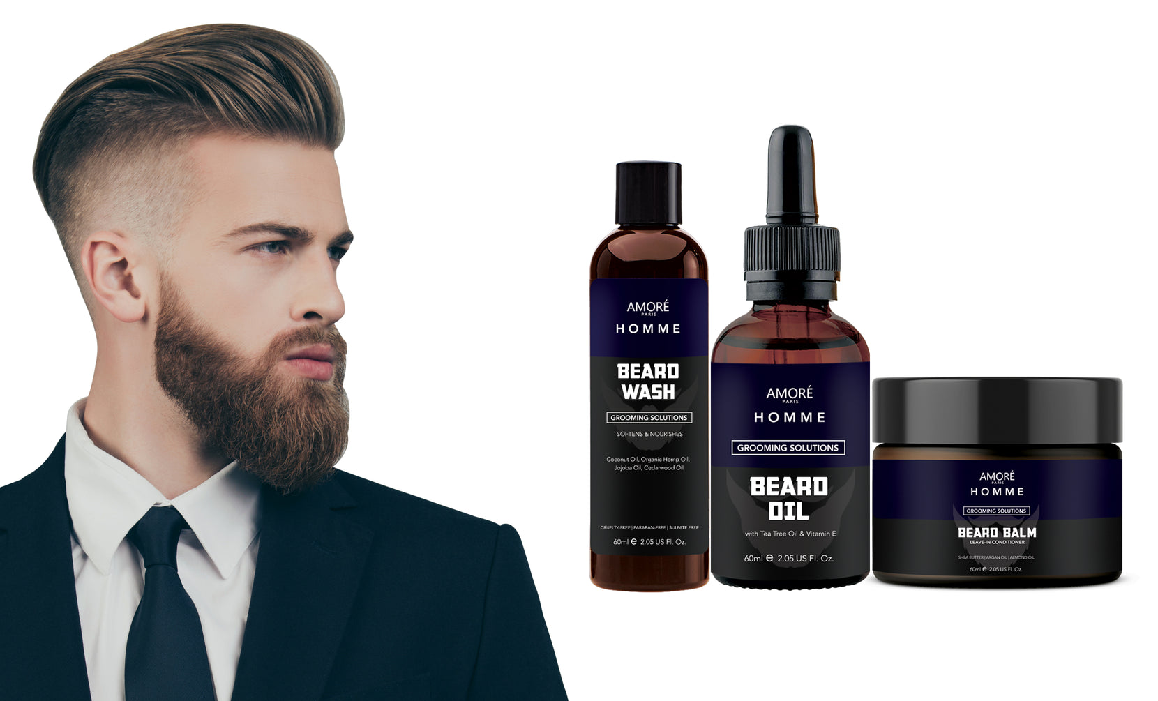 Ultimate Beard Care and Grooming Kit (3-Piece)