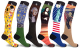 Famous Art Paintings Compression Socks (3-Pairs or 6-Pairs)
