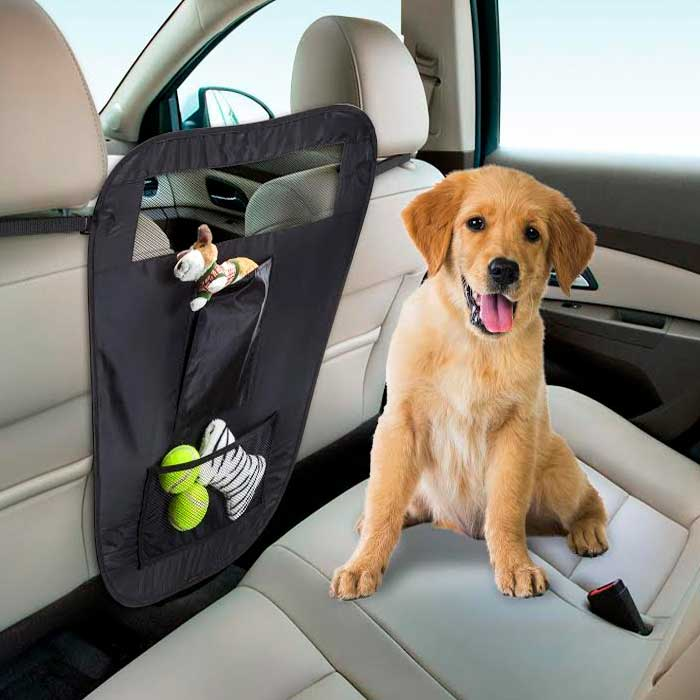 iPets™ Auto Pet Barrier with Pockets & Organizer
