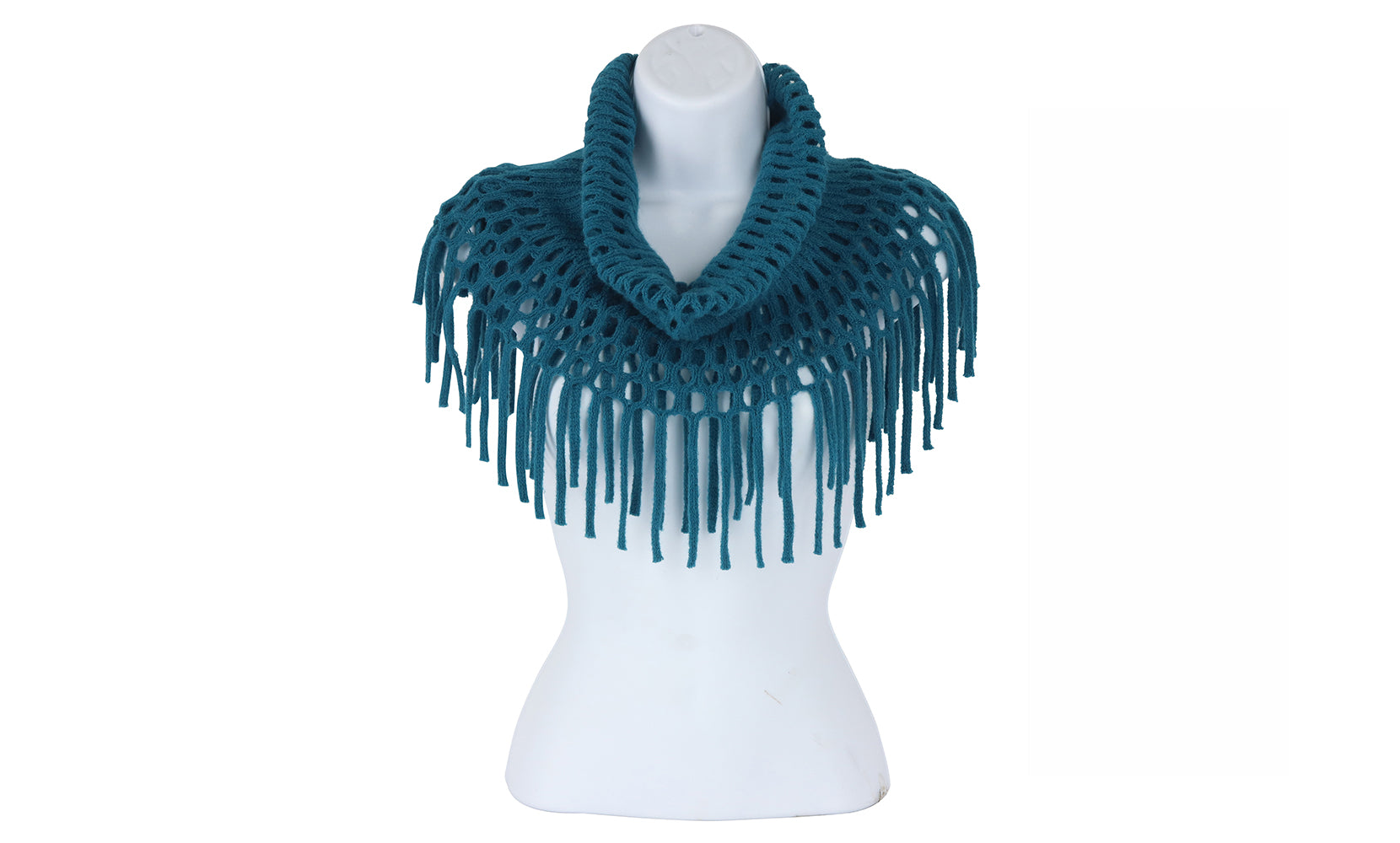 Fringe Benefits Open Weave Infinity Scarf