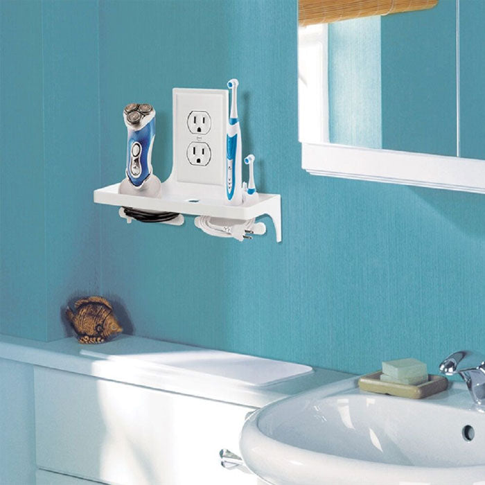 Bathroom Wall Outlet Organizer