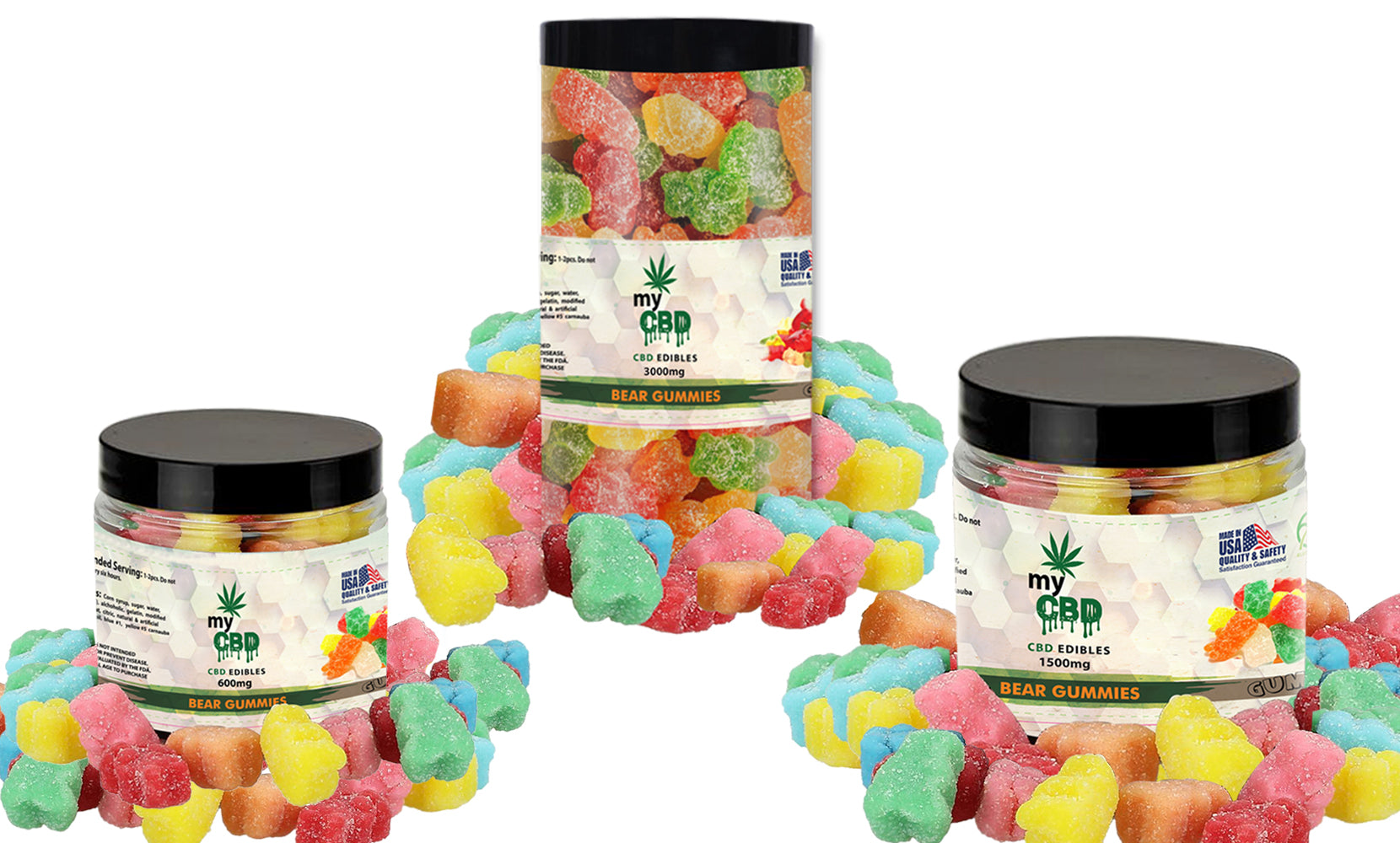 CBD Bear Gummies From myCBD (600mg, 1500mg or 3000mg)
