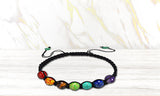 Spiritual Chakra and  Lava Stone Diffuser Bracelet with Optional Essential Oils