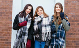 Women's Trendy Oversized Plaid Printed Scarf and Wrap