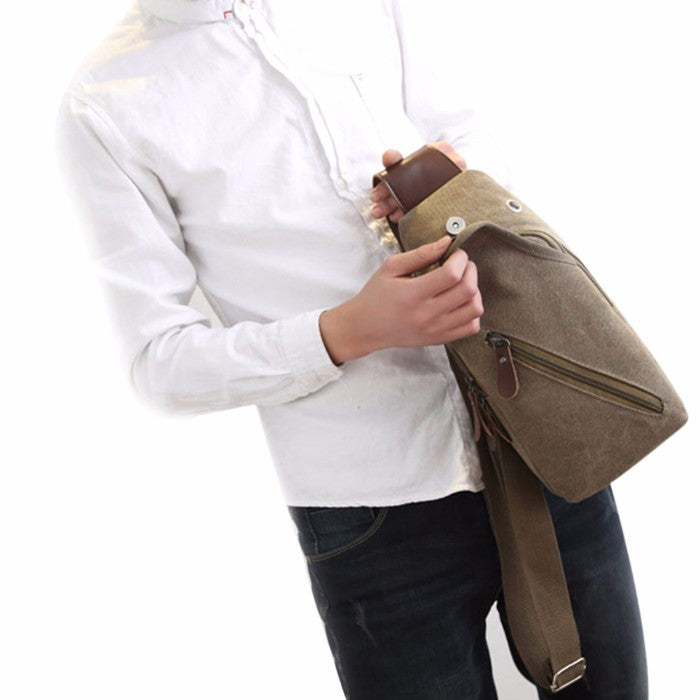 Metro Modern Canvas Shoulder Sling Bag