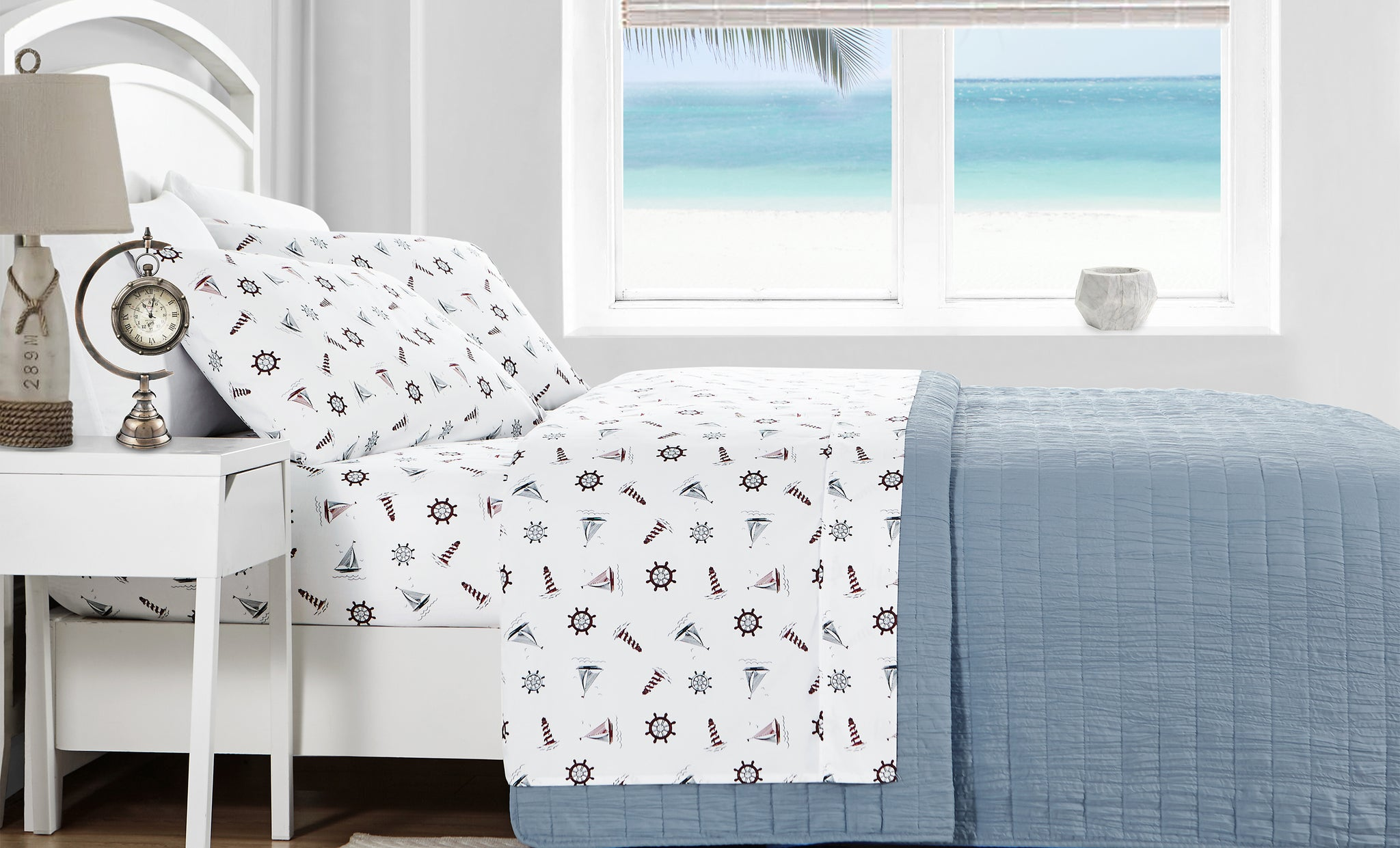 Microfiber Caribbean Joe Supersoft Printed Sheet Set