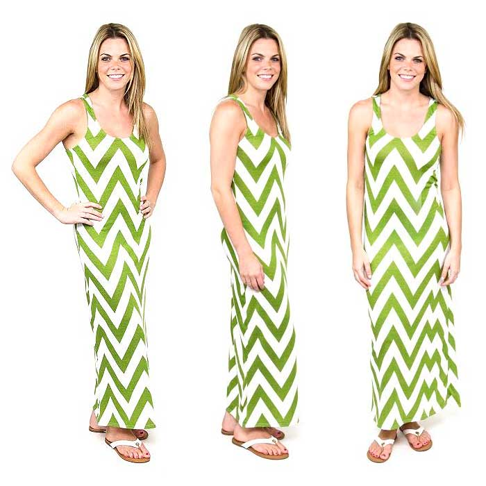 Chevron Racerback Maxi Dress