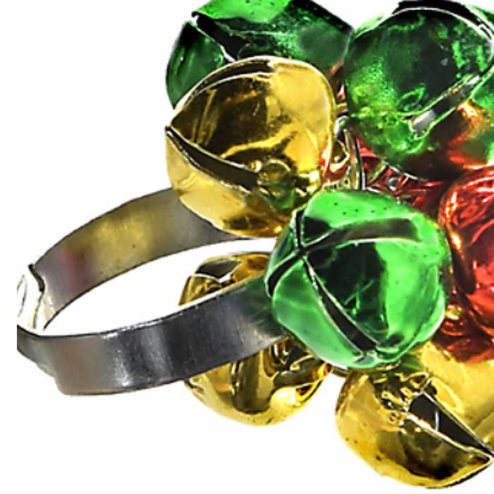 "4-Pack: Christmas Jingle Bell ""Jingle Jangle"" Rings"