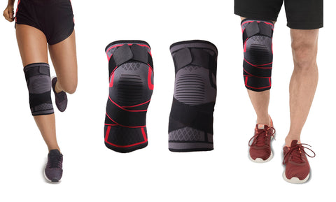 Knee Compression Stabilizing Sleeve with Adjustable Straps