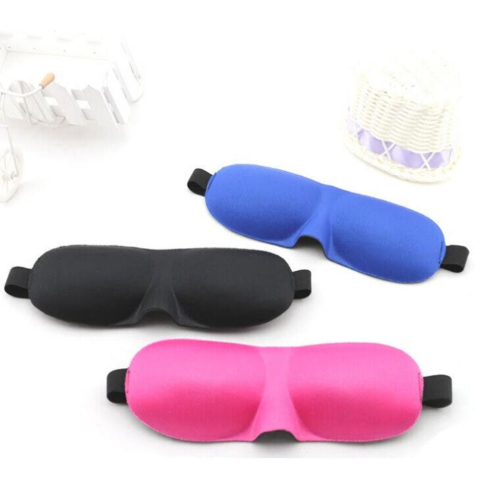 Contoured and Comfortable Sleep Mask with Ear Plugs and Carrying Pouch