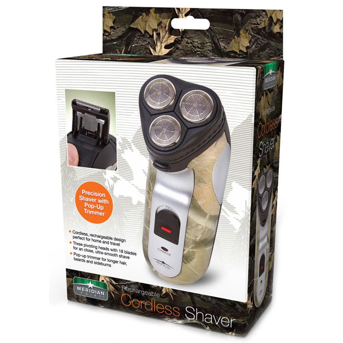 Cordless Men's Electric Shaver with Camo Design