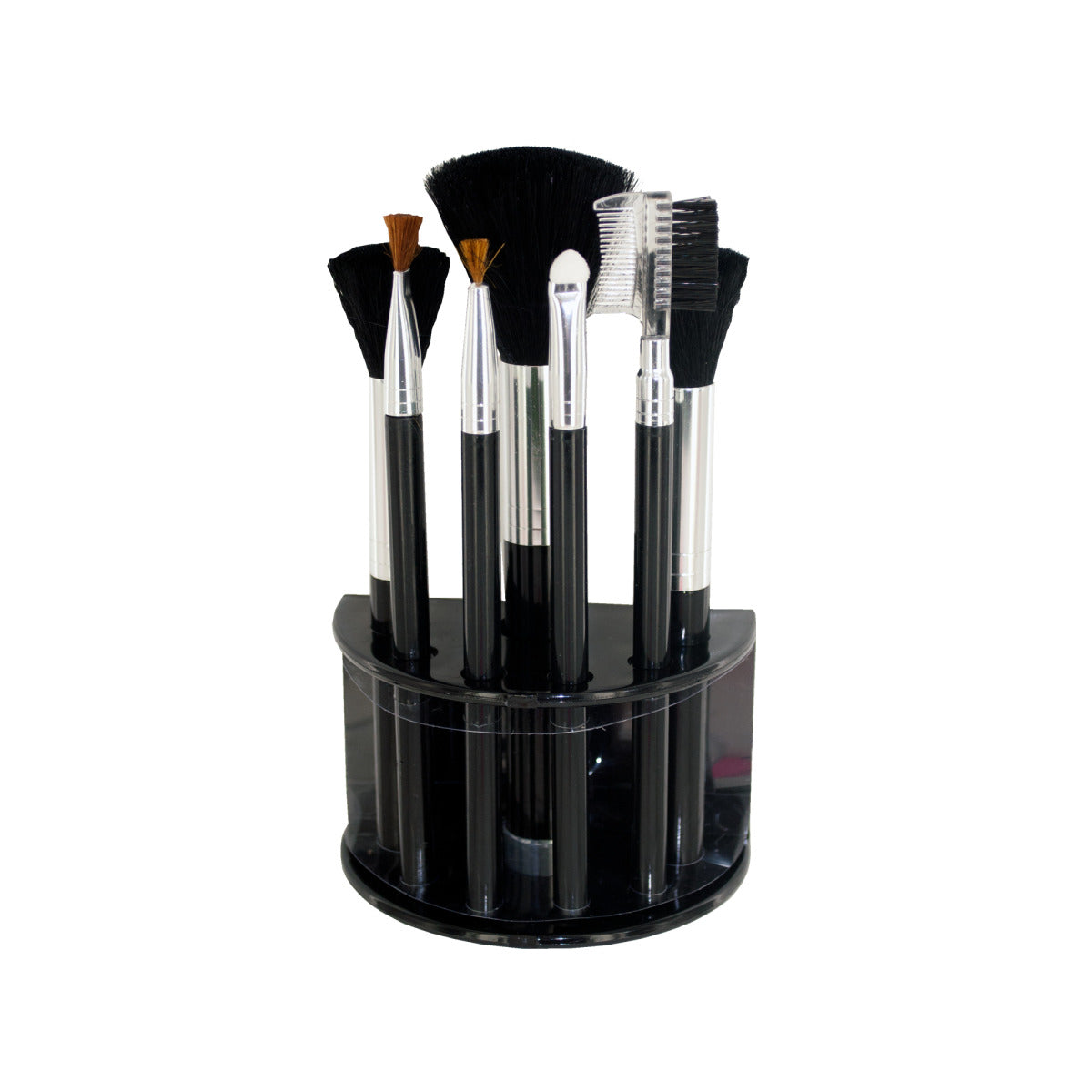 Cosmetic Brush Set With Stand