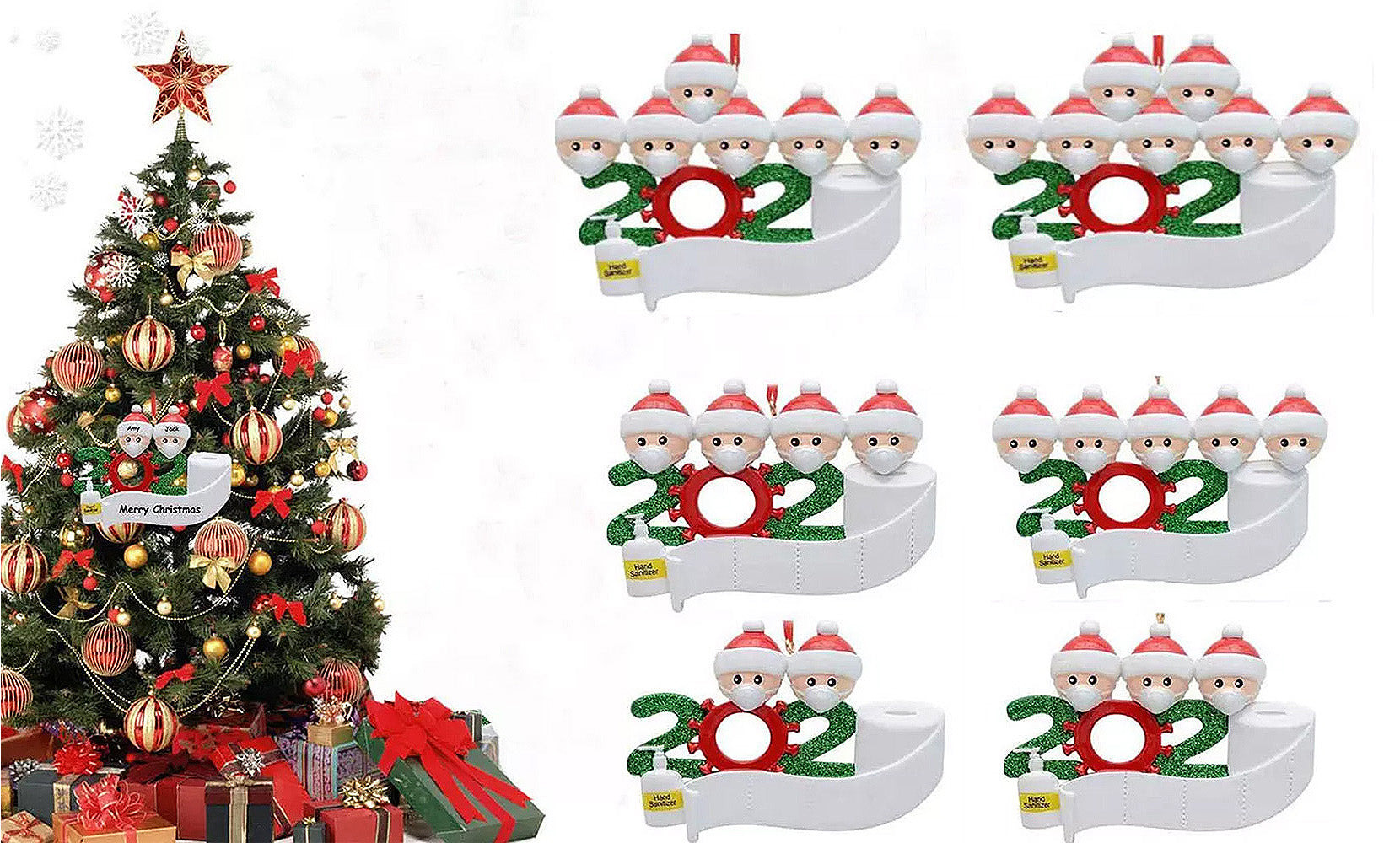 shopify-2020 Quarantine Family  Christmas Ornament Personalized Xmas Gifts-1