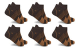 Copper-Infused V-Striped Ankle Compression Socks (6-Pairs)