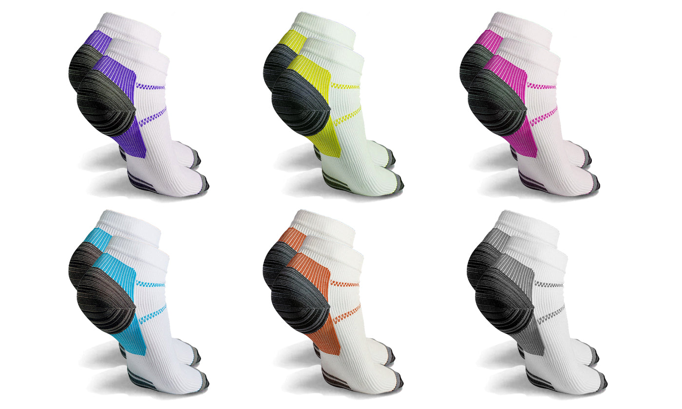 6-Pairs: High Energy Ankle Compression Socks