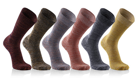 6-Pack: Men's Graduated Thermal Socks