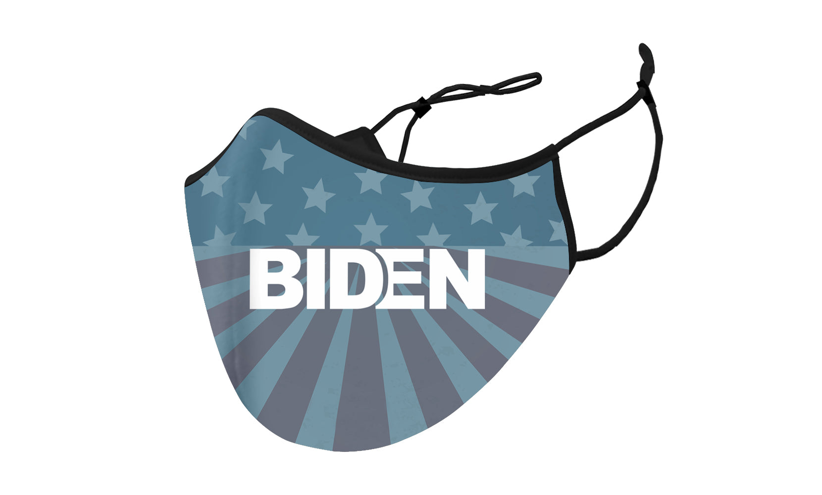 Support For Biden Two-Layer Reusable Face Mask With Adjustable Earloop (3-Pack)