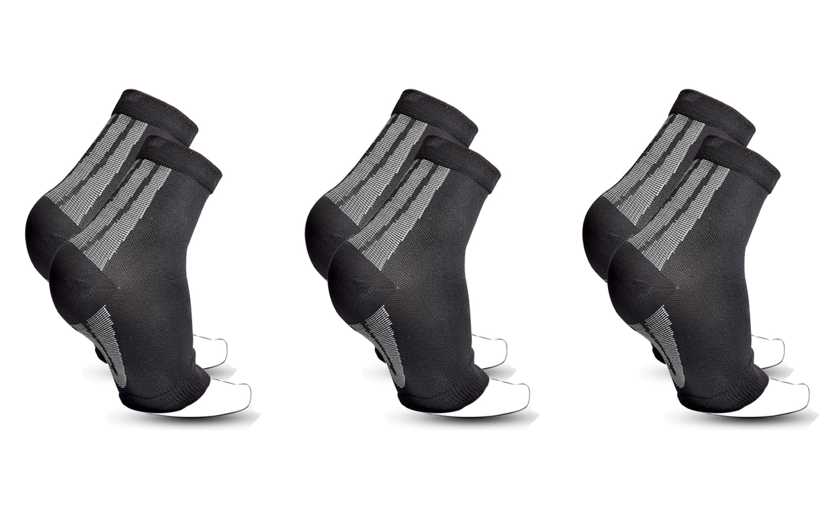 3-Pairs : Unisex Open Toe Compression Circulation Socks