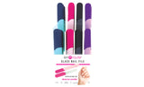 En Route Glass Nail File with Silicone Grip and Protective Travel Case (4-Pack)
