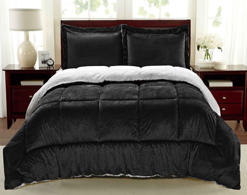 Luxury Home Micromink and Sherpa Comforter Set (2- or 3-Piece)
