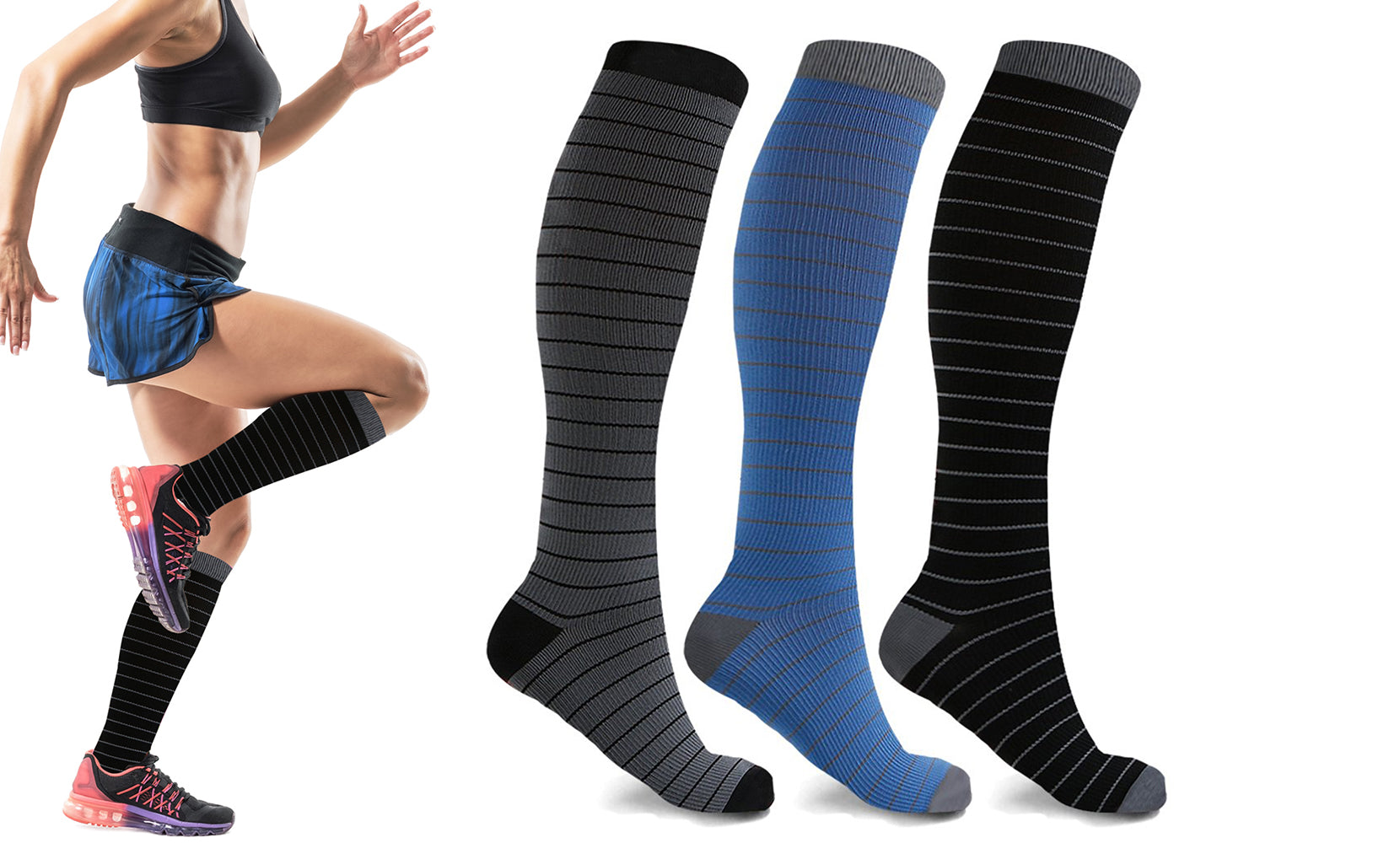 3-Pairs : High Energy Expressive Compression Socks