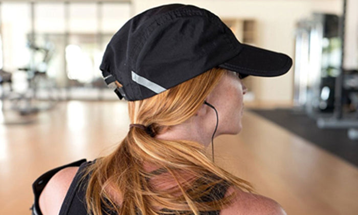 FITKICKS Folding Cap w/UPF 50+ Sun Protection, Quick Dry, Breathable, Baseball Cap Style