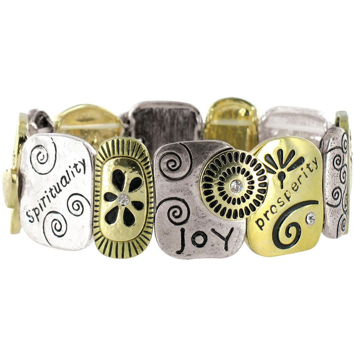 Family Tri-Tone Stretch Bracelet