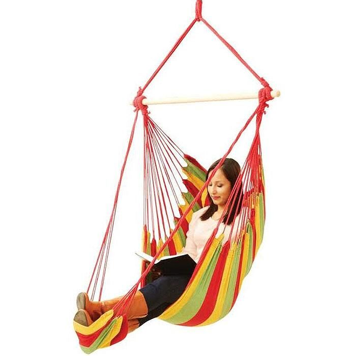 Fun Hanging Hammock Rope Chair - Arm Rest