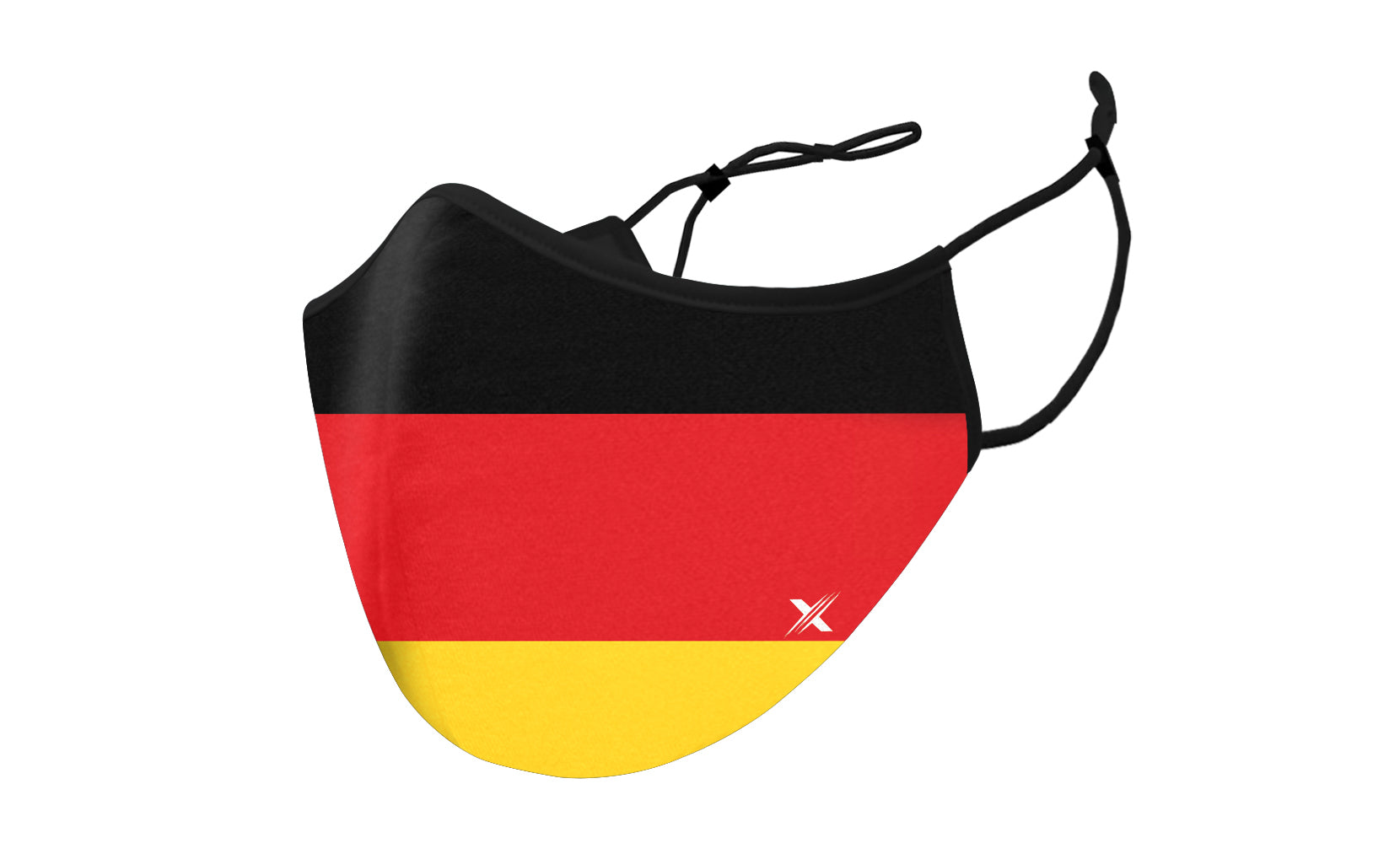 Germany Flag Double Layered Reusable Mask With Adjustable Loops