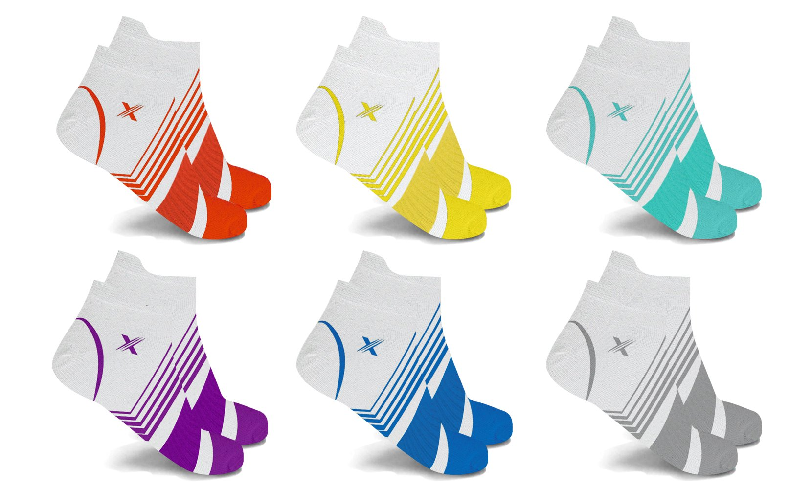 XTF Ankle-Length Graduated Compression Socks (6-Pairs)