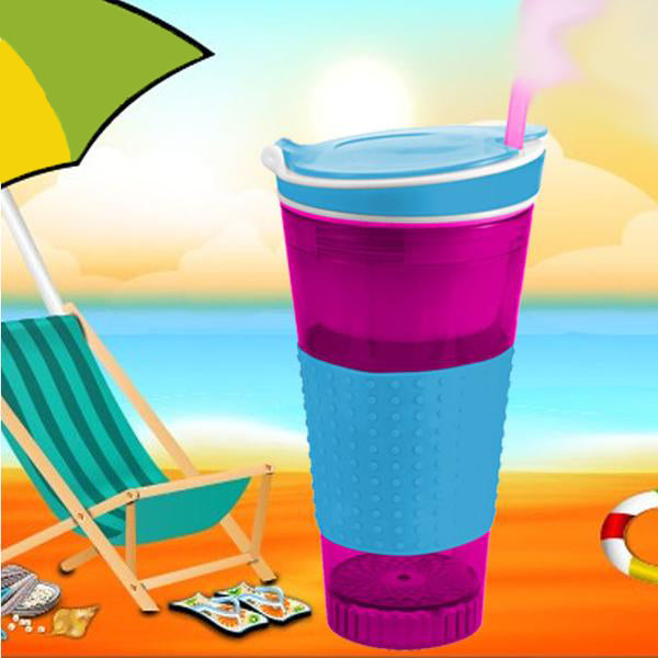 Snackeezer All-In-One Snack & Drink Cup with Lid