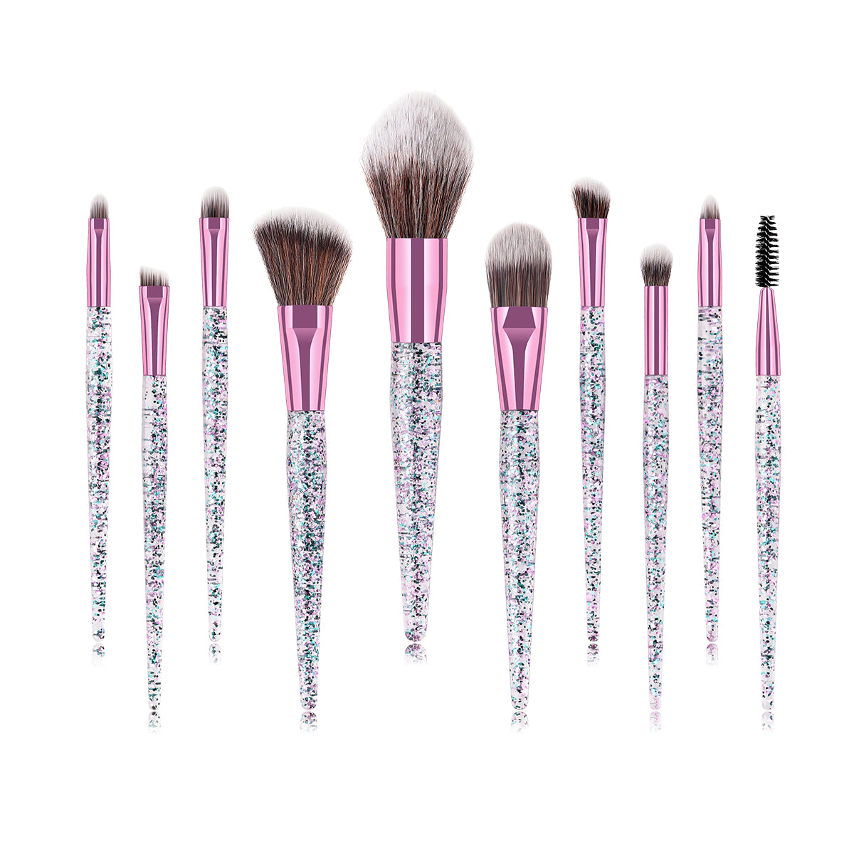 10-Piece: All that Glitter Makeup Brush Set