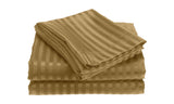 Luxury Home Super-Soft Dobby Stripe Embossed Bed Sheet Set (4-Piece)
