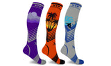 California Dreams Knee High Compression Socks (3 Pairs)