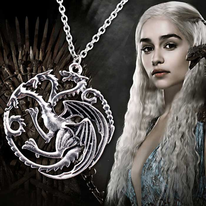 "Game of Thrones ""Daenerys of House Targaryen"" themed Dragon Necklace"