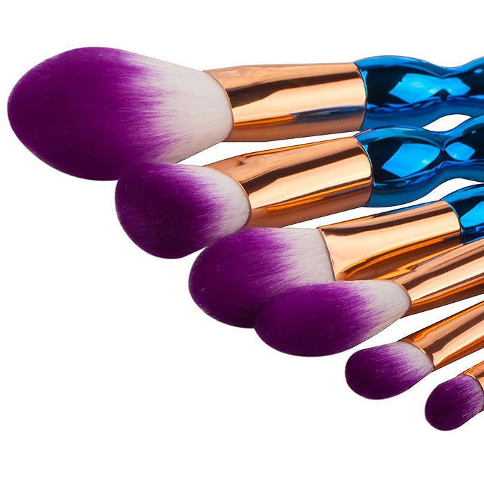 7-Piece: Professional Abstract-Colored Makeup Brush Set