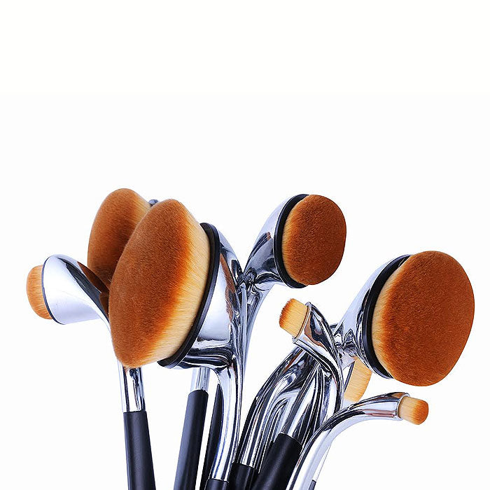 9-Piece Oval Makeup Brush Set
