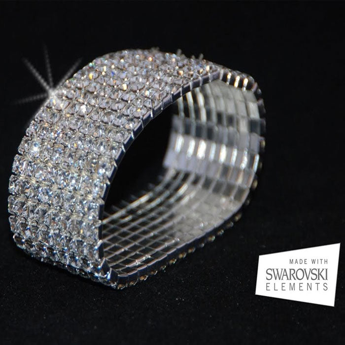 Gorgeous 10-Tier Swarovski Elements Bracelet