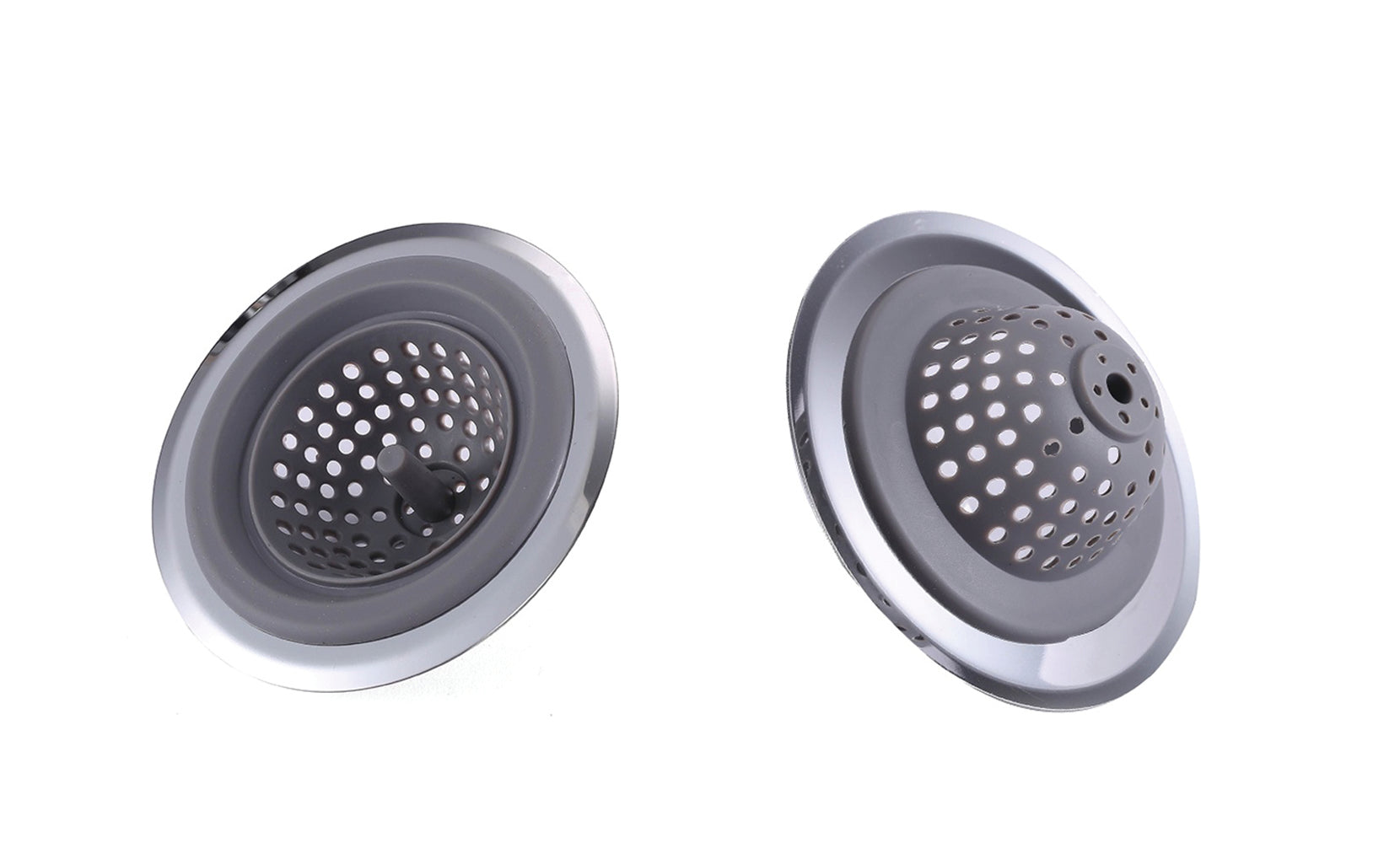 2 in 1 Clog-Free Multi-Purpose Silicone Kitchen Sink Strainer and Stopper (1 or 2-Pack)