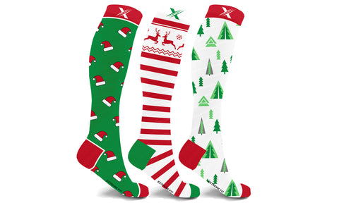 Holiday Collection Knee High Compression Socks