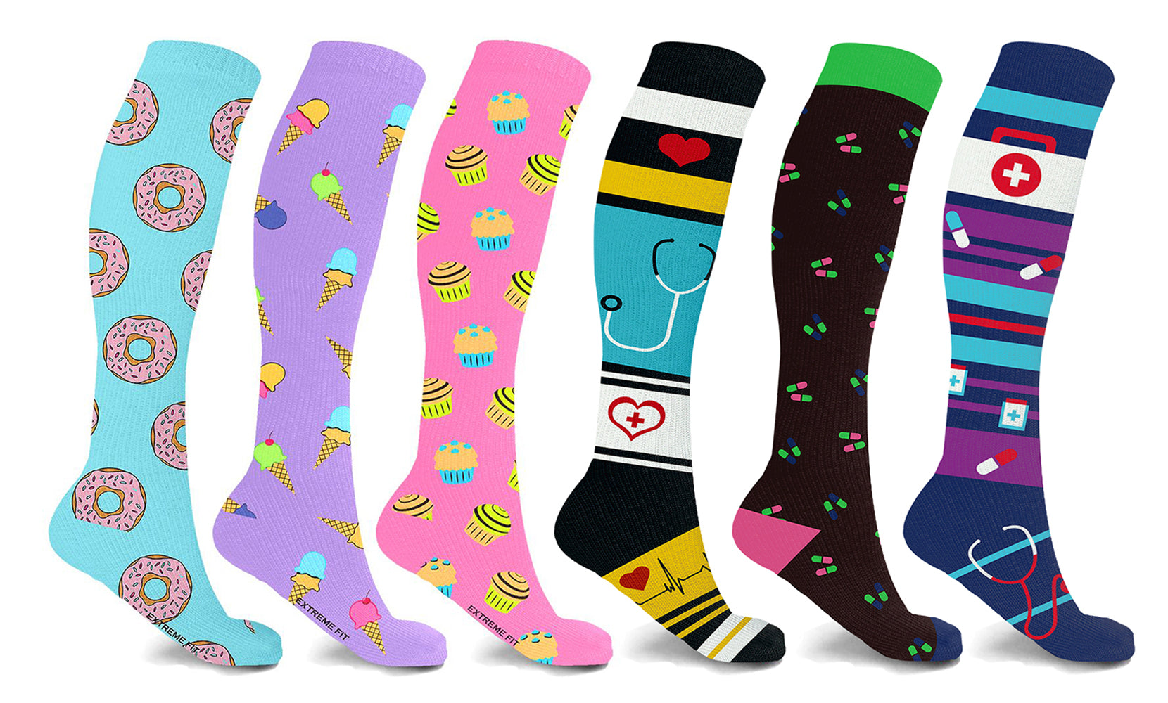 3-Pairs: High Energy Expressive Compression Socks