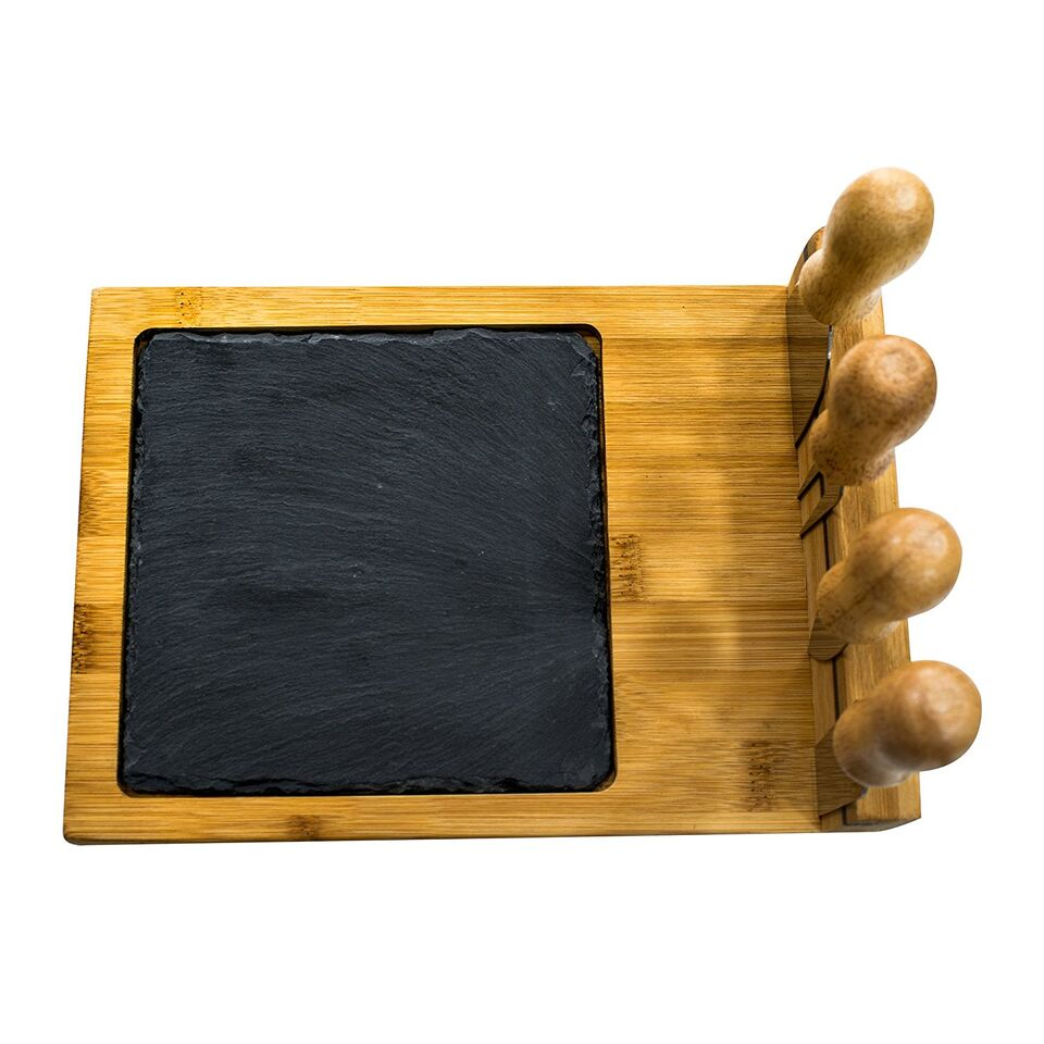6-Piece Slate Cheese Board Set