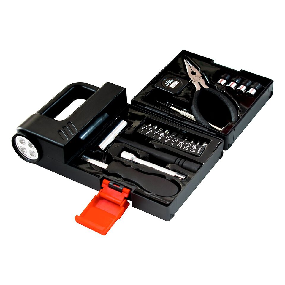 23-Piece Tool Box Set with Built-in Flashlight