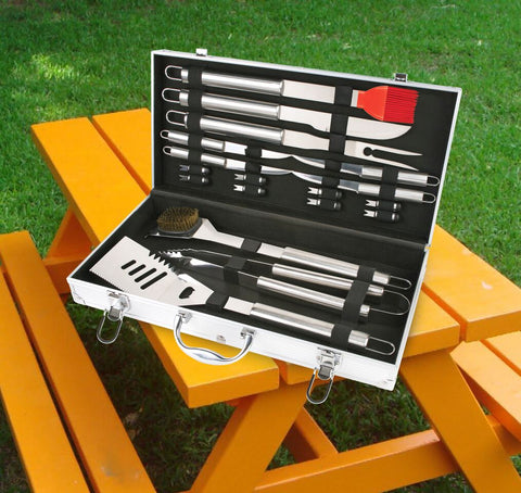 Stainless Steel 18-Piece BBQ Tools Set