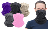 Copper -Infused  Washable and Reusable Moisture-Wicking Face Mask Bandana & Neck Gaiter(5-Pack)